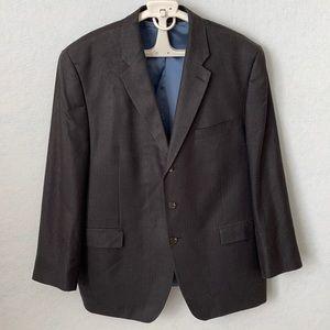 Ralph Lauren Texture Stripe 3 Button Suit Jacket